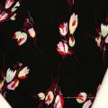 Rayon Chenille Stoff mit Blumenmuster 60er Jahre