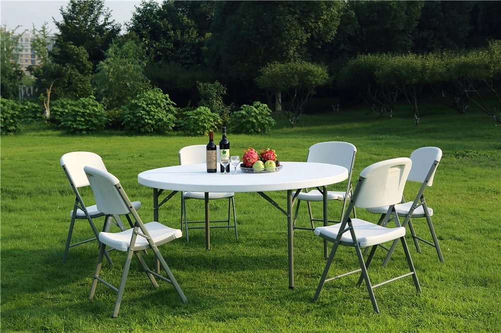 Outdoor Round Plastic Foldable Table