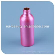 Frasco de alumínio perfume vazio com revestimento de cor