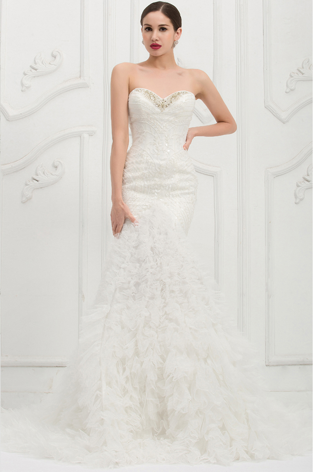 trumpet-mermaid-strapless-chapel-train-wedding-dress-with-beadings
