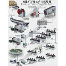 Ligne de processus de flottation de minerai de graphite avec la machine minière réglée par plein