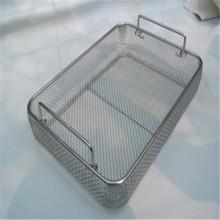 Malha de arame crimpado de aço inoxidável para cestas