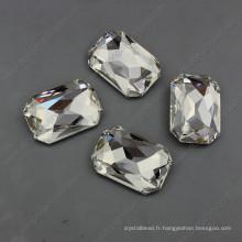 Perles de cristal clair pour pierres