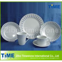 Jantar da porcelana 20PCS com impressão-UE 17,9% Unti-Dumping Duty