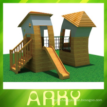 best quality wooden house outdoor playgrounds for sale