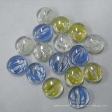 Плоские стеклянные бусины и плоские мраморы для вазочных наполнителей