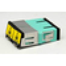 Соответствует RoHS SC Duplex Plastic Fiber Adapter Adapter with Open Shutter