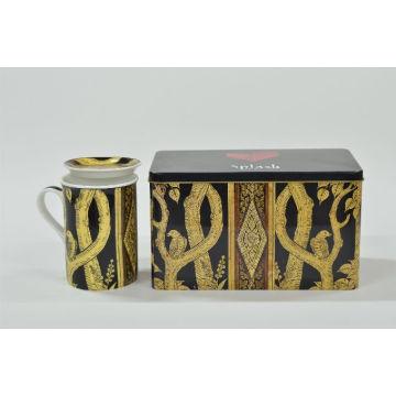 Auriform Handle Promotion Mug with Lid