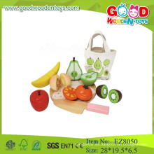 Corte de fruta conjunto de juguetes de madera para la fruta corte de corte corte de fruta de corte