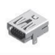 MINI USB 5F 90 ° AB Typ Zwei Beine