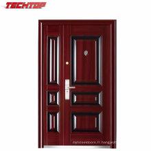 TPS-072sm Sécurité Porte d'entrée en acier extérieure sécurisée Chine
