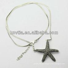 Charm Sterling Silber Stern Anhänger Schmuck 925 Silber Halskette