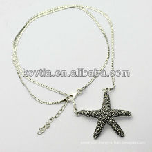 Charm sterling silver star pendant jewelry 925 silver chain necklace
