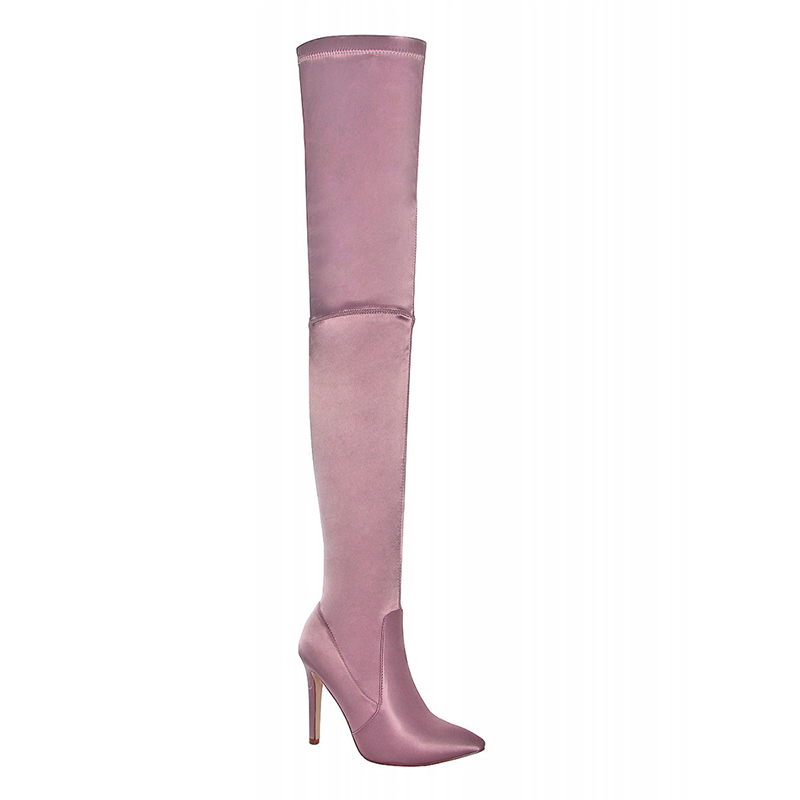 thigh high thin heel boots for girl