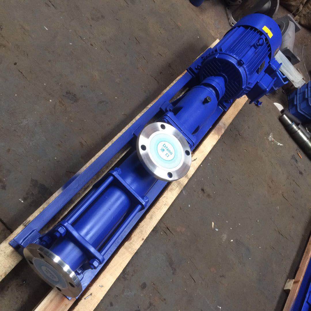 G type stainless steel explosion-proof frequency conversion single screw pump 2