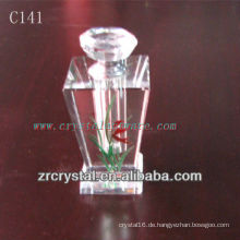 Schöne Kristallparfümflasche C141