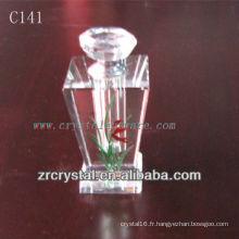 Belle bouteille de parfum en cristal C141