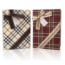 Rechteckige große Geschenkbox. Benutzerdefiniertes Logo für kleine Kartonschachteln