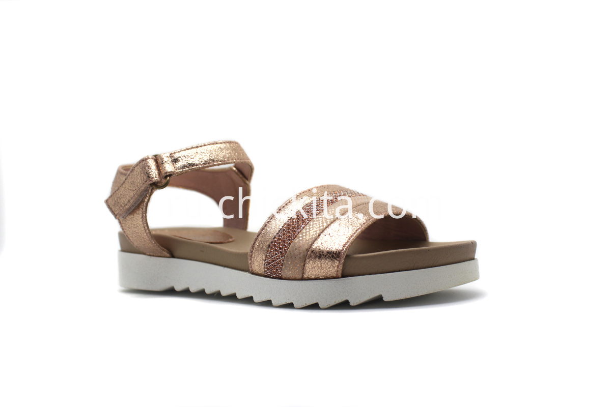 irls comfort sandals With Simple design bright metallic & multicolor