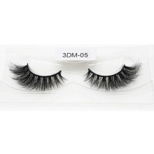Manufacturer Factory Price Handmade 3D 5D 25mm Real Mink Strip Eyelashes