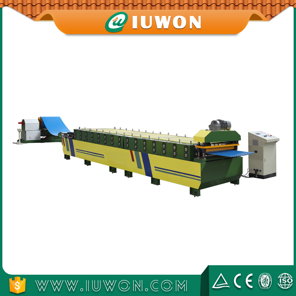 Baja Gelombang Genteng Tile Panel Roll Forming Machine