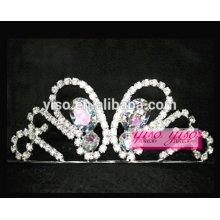 Pequenos ornamentos de cabelo com diamantes de borboleta Etiquetas de moda