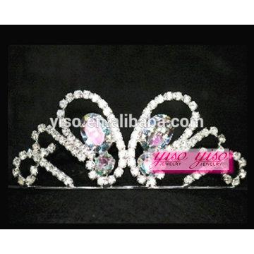 Pequeño mariposa diamante pelo adornos de moda bandas