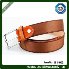Real leather belt for men 2014 brown men belt 125 cm 130 cm 140 cm