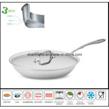 3ply Body Stainless Steel Skillet