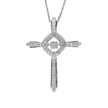 Bijoux Fantaisie Croix 925 Pendentifs Argent Pendentifs Diamants Collier