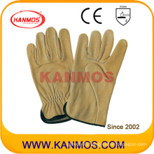 Industrial Safety Cowhide Grain Leather Driver Work Gloves (12203)