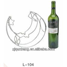 Forma de la luna de metal rack de vino, los titulares de vino
