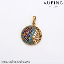33084 Promotion price Xuping fashion jewelry micro pave turquoise pendant gold for women