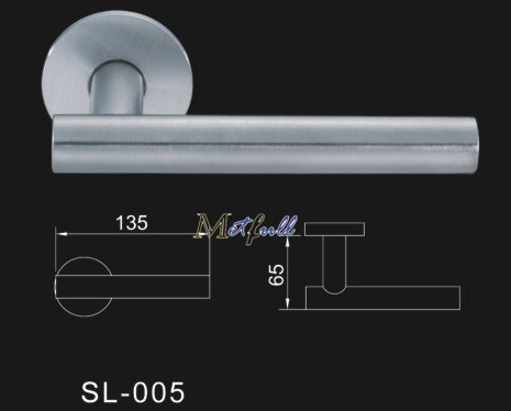 Euro Profile Solid Door Handle