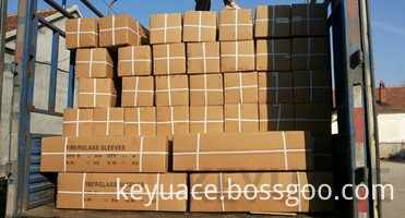 Silicone Glass Fiber Sleeve Is Delivered By Truck