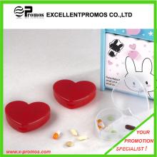 Corazón forma 3 compartimientos píldora caso (EP-P412905)