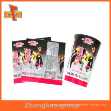 water proof plastic shrink wrap bottle labels with printing for outer packaging