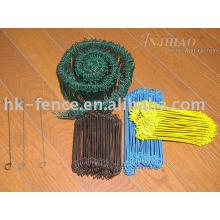 attaches de câble de boucle enduites par PVC