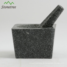 5,1 '' Granitmörser & Pistill für Kräuter und Gewürze / Kräutermühlen / Küchengeschirr