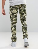 Custom Guangzhou Manufacturer OEM 100% Cotton Slim Breathable Functional Green Camo Men's Cargo Camouflage Pants