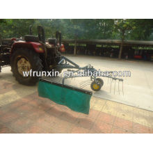 Rotary hay tedder rake with tractor PTO