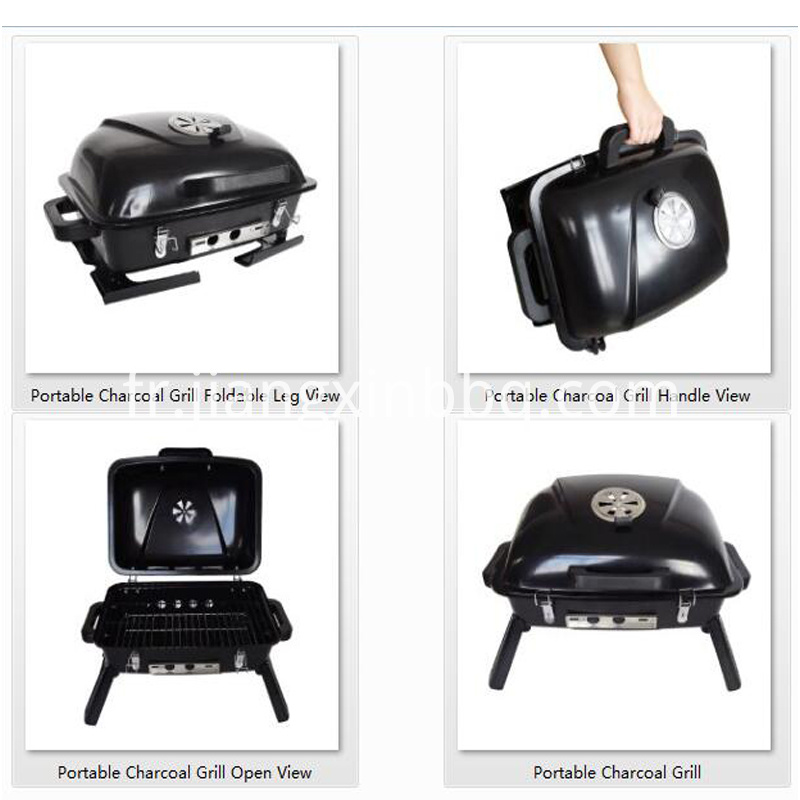 Charcoal Grill Portable BBQ Barbecue Picnic Grill Folding Legs