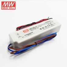 Buena calidad 6w a 150W caja de plástico UL CE ROHS 60watt dc12v fuente de alimentación led LPV-60-12