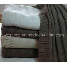 100 % Baumwolle gestrickte Decke