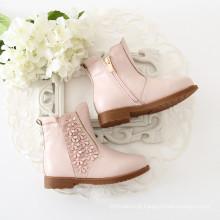 sapatos de bebê crianças sapatos meninas pele botas shose para o inverno