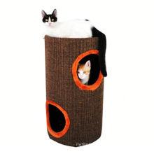 2018 diseño popular a estrenar cartulina árbol corrugado gato jugar casa