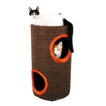 2018 Popular Design Brand New Cardboard Cat Tree Corrugated Cat Play House