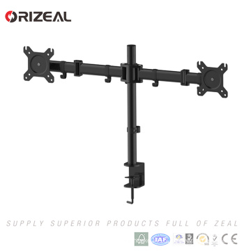"Dual Monitor Stand Fully Adjustable Desk Mount,Dual Articulating Monitor Arm For 2 LCD Screens Up to 27"" inch"