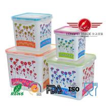 Envase de comida plástico cuadrado de 4PCS High Food