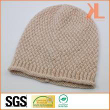100% Acrylic Metallic Yarn Brim-Curling Knitted Hat